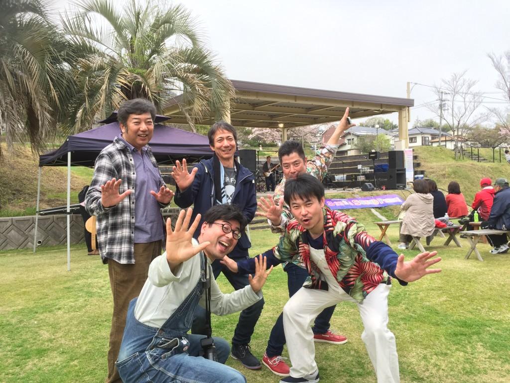 宮浜サウンドピクニックでローラーズの皆さんと