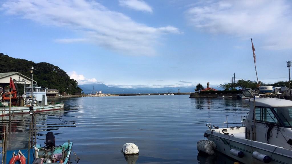 美保館の目の前に広がる海!天気がいい日は大山がきれいに見えます!