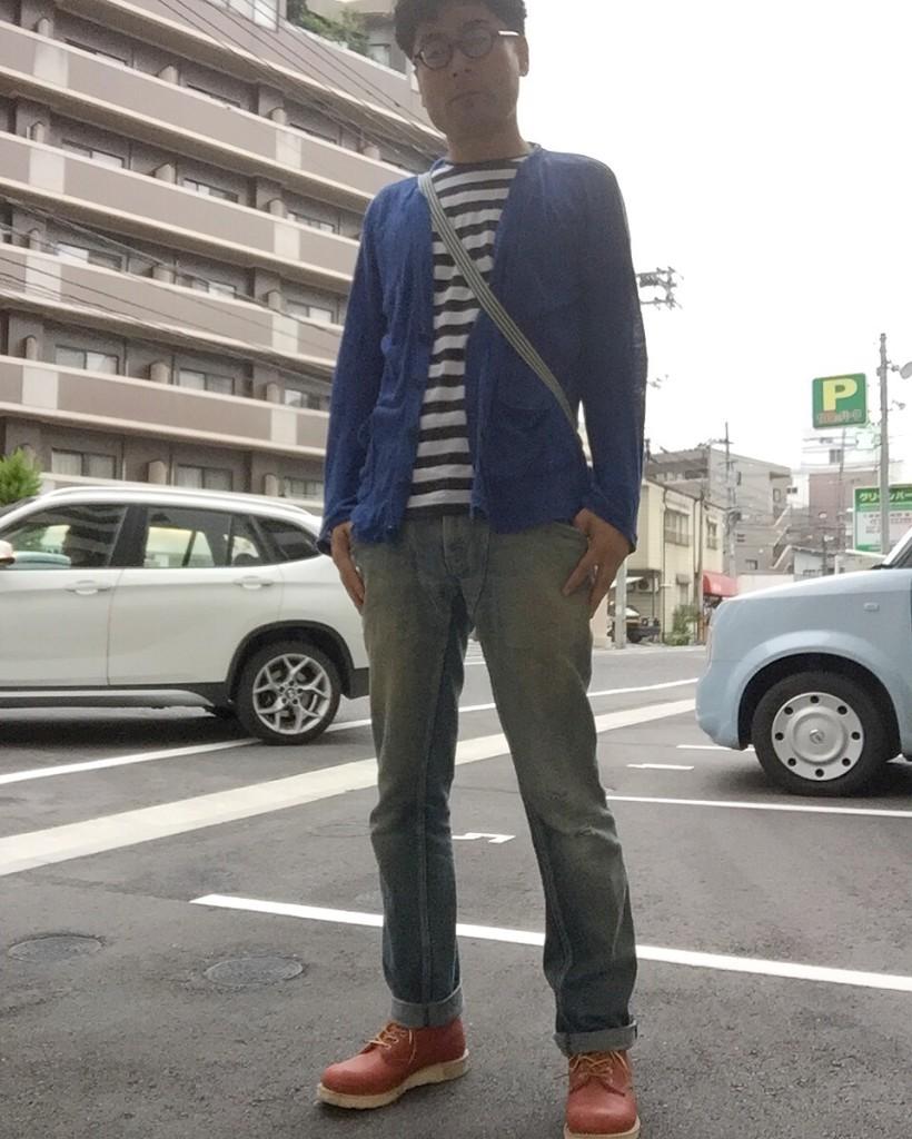 オザケンのツアーTシャツをデニムで合わせたこんな感じのファッションでいきました。