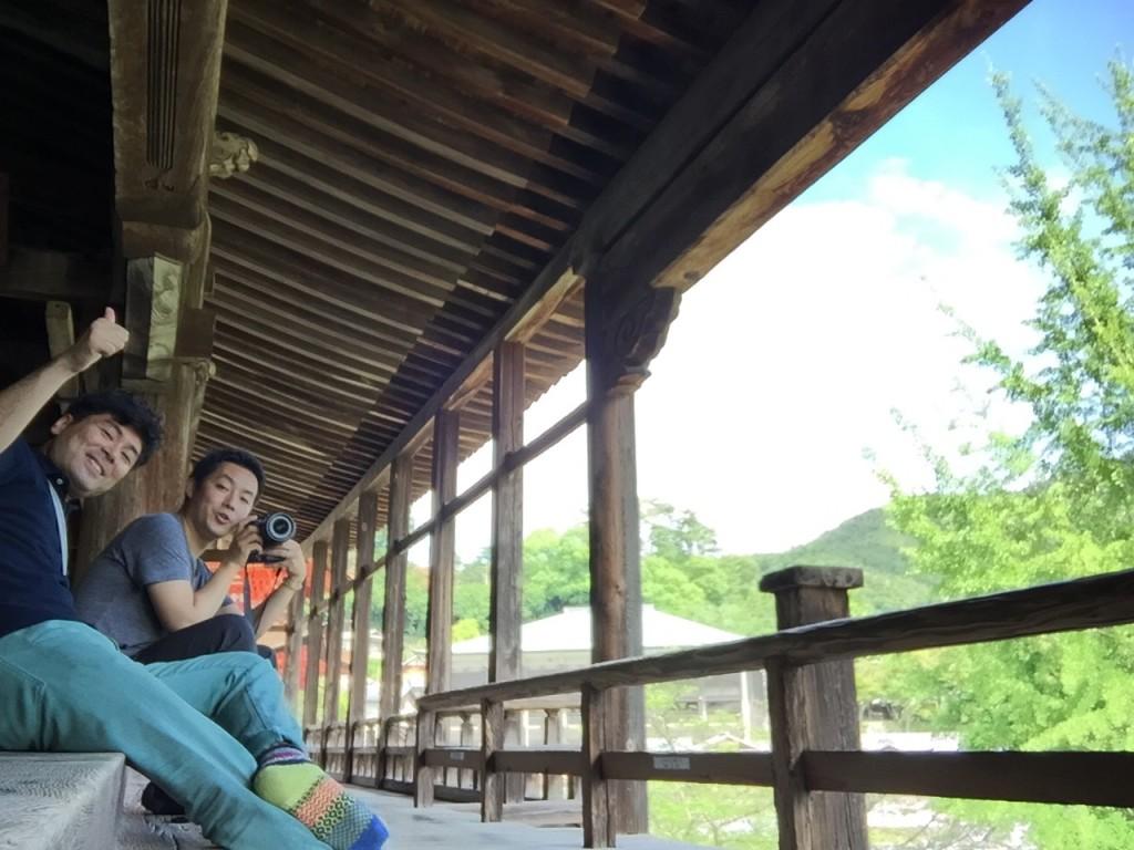 ご飯食べた後は、ともちんと初夏の宮島の散策へ。新緑が綺麗でこの時期はとってもいいですよ!