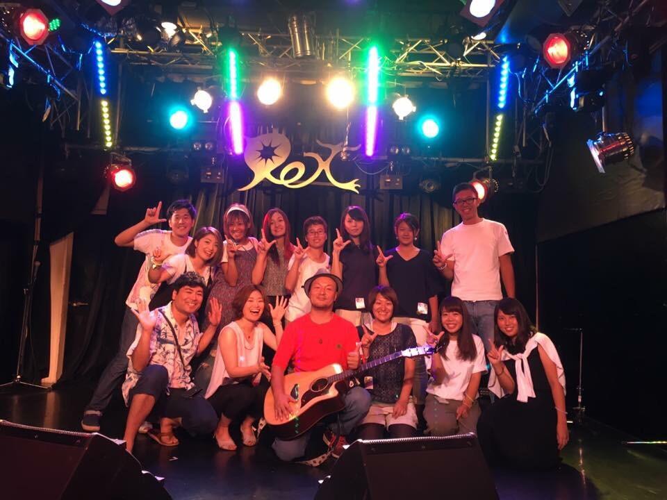 開演前に川ちゃんやロータスメンバーと記念撮影。